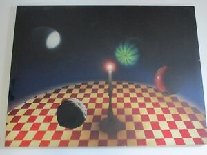 LARGE SURREALISM PAINTING FOUR SEASONS STILL LIFE MODERNISM EXPRESSIONISM MARK