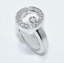 """Movado Style 14 Karat White Gold Diamond Floating Circle """"ono"""" Ring Sz 6.25"""