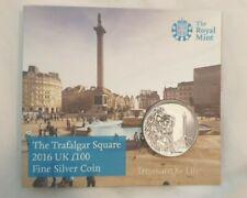 More details for 2016 trafalgar square fine silver 100 pound coin bunc bu uk