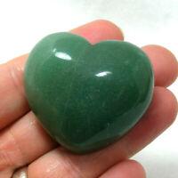 Aventurine Large Heart Polished Natural Green Gemstone 71g 4.5cm