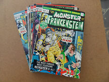 Frankenstein  ( The Monster Of ... ) 1 - 18 . Complete Coll . Marvel 1973 - 75 .