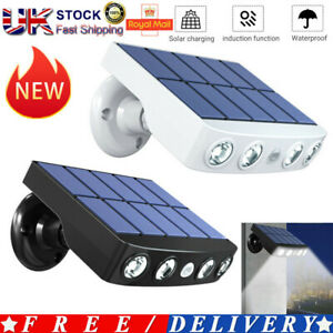 LED Solar Powered PIR Motion Sensor Outdoor Garden Light Security Flood Lamp UK