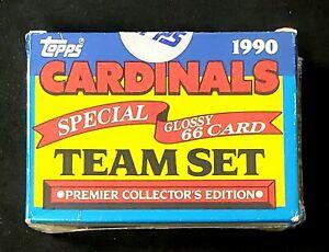 1990 Topps Baseball TV Glossy St Louis Cardinals Factory Sealed 66 Card Team Set