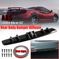 Glossy Black Universal Car Shark Fin Wing Lip Rear Bumper Diffuser Spoiler