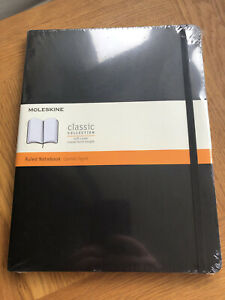 Moleskine Large Ruled Notebook Black Soft Cover New & Sealed