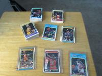 1988-89 FLEER BASKETBALL COMPLETE SET WITH STICKERS MICHAEL JORDAN. MINT SET!