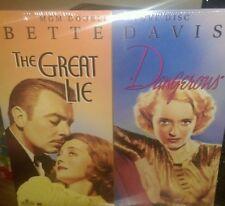 Bette Davis The Great Lie/Dangerous 2 Disc Set Laserdisc Brand New.