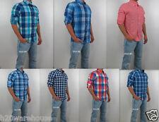 NWT HOLLISTER By Abercrombie Men Slim Fit Malibu Classic Casual Plaid Shirt New