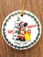 Disney, Mickey Mouse, Merry Christmas, Ornament, Japan