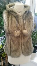 Women's Faux Fur Gilet from Brave Soul, Size 10. BNWT