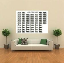 KEYBOARD PIANO CHORDS NEW GIANT POSTER WALL ART PRINT PICTURE G769