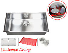 "30"" Stainless Steel Zero Radius Single Bowl Kitchen sink"