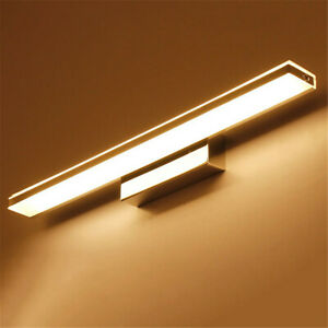 LED Lighting Waterproof Antifogging Bathroom Rectangle Wall Light Mirror Front