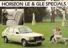 Talbot Horizon LE & GLE 1985 UK Market Leaflet Sales Brochure