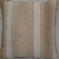 A 16 Inch Cushion Cover In Laura Ashley Maxwell Natural Stripe Fabric