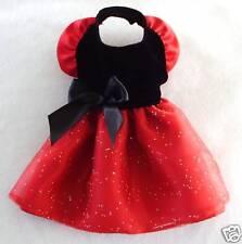 M Black Velvet Red Satin Dog Dress clothes Gown Medium PC Dog®