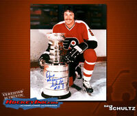 Dave Schultz SIGNED Flyers 8X10 Photo -70113