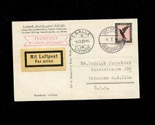 Zeppelin Sieger 71B 1930 Switzerland Flight Bordpost on zep card ST. Gallen drop