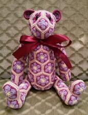 Teddybaer gehaekelt - Amigurumi - 100% Baumwolle - Oekotex
