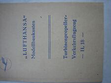 IL 18 DDR Lufthansa (selten) Bauanleitung
