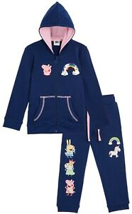 Peppa Pig Hoodie & Trousers Set, Unicorn Hooded Tracksuit for Girls