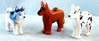 ☀️NEW Lego Friends Animal Pet 3x DOG Lot Minifigure Shepherd Dalmatian & Husky