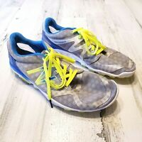New Balance Minimus Mens Sz 9.5 Gray Blue Yellow Trail Running Sample Shoes