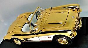 Corvette Stingray Chevy 24k Gold Sports Model Car1 12 1 24 250 gto1963f40 458