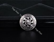 10PCS 3CM ANTIQUE SILVER HOT WHEELS SKULL RIVETBACK CONCHOS FOR LEATHER WALLET
