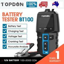 TOPDON Bt100 Car Battery Tester Digital Charging Cranking Analyzer 12v 2000cca