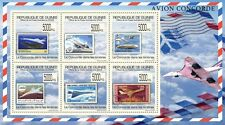 Concorde on Stamps Aviation (France) m/s Guinea 2009 MNH Mi 7016-21 #GU0976a