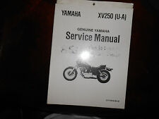 NOS Yamaha OEM XV250 U-A Service Shop Repair Manual LIT-11616-06-18