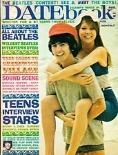 Datebook Magazine August 1966 The Beatles George Harrison Patti Boyd, Sonny Cher