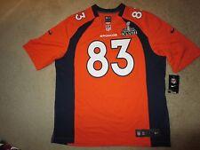 Wes Welker #83 Denver Broncos Super Bowl Nike On Field NFL Jersey XL NEW