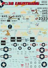 Print Scale 72-016 Decal for P-38 Lightning Aircraft 1/72 scale