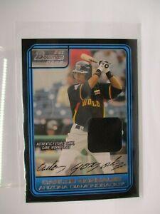 2006 Bowman Draft Future's Game Prospects Relics #43 Carlos Gonzalez Jsy B RC