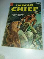 Indian Chief #12 dell comics 1953 Golden Age key 1st appearance White Eagle rare