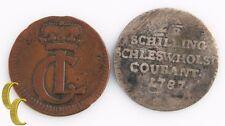 German States, 1728 Hesse-Kassel Heller & 1787 Schleswig-Holstein 2-1/2 Shilling