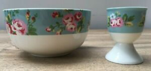 Cath Kidston Rose breakfast bowl and egg cup Pre Owned