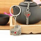 1 Pair Arrow Couple Keychain Keyring Keyfob Valentine's Day Lover Gift Heart Key