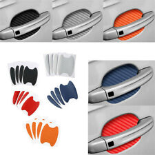 4pcs Carbon Fiber Style Car Door Handle Anti-Scratch Protective Film Stickers aa