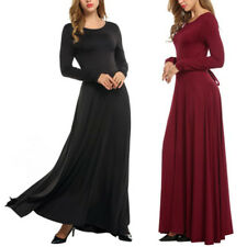 Women's Long Sleeve Bodycon Slim Casual Evening Prom Party Formal Maxi Dress Hot