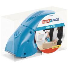 tesa® Paketbandabroller Packbandspender pack n go inkl.Packband Paketroller blau