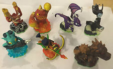 7 SKYLANDERS SPYRO'S ADVENTURE FIGURES FLAMESLINGER ERUPTOR TRIG HAPPY BASH HEX+