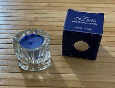 "Av-50, 1982 Avon/Fostoria Glass ""Tocarra"" Fragranced Special Edition Candle"
