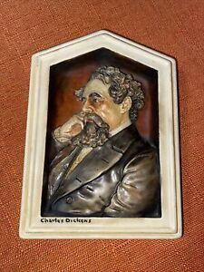 "Charles Dickens 3 Dimension Ivorex Plaque 5.5""x4"""