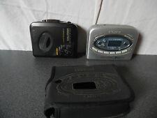 Lot de 2 baladeurs / Walkman K7 Cassette Sony semi HS WM-EX304 et WM-FX477