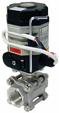 """1"""" Electric Actuated Ball Valve 24 VDC Stainless Steel-New"""