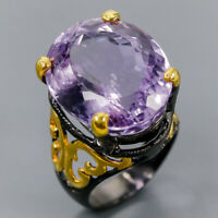 Amethyst Ring Silver 925 Sterling Jewelry fine Art Size 7.5 /R145557
