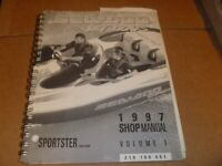 OEM 1997 Bombardier SeaDoo Sportster Service Shop Repair Manual Vol 1 219100051